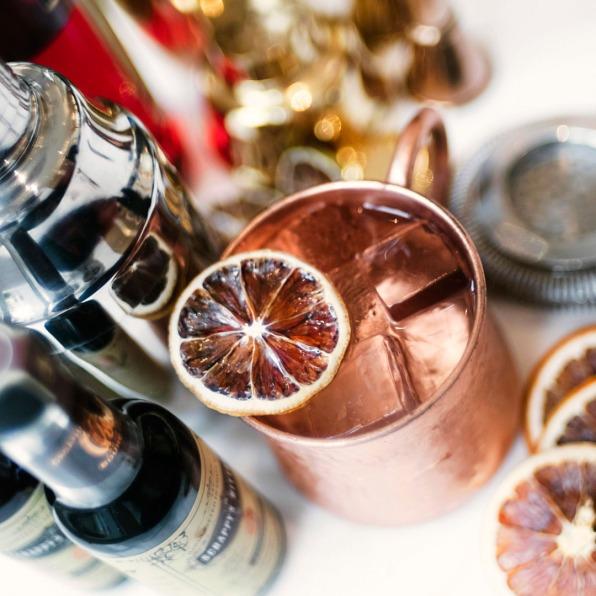 night - drink copper jug