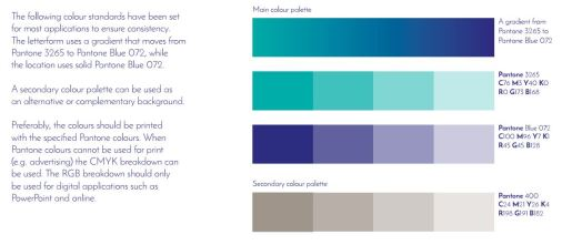 striking and relaxing colour palette